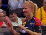 Kristin Silbereisen bei der Tischtennis Europameisterschaft 2009 in Stuttgart