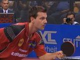 Timo Boll erwartet Aufschlag bei der Tischtennis EM 2009 in Stuttgart