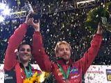 Timo Boll und Christian Süß zur Siegerehrung bei der Tischtennis EM 2009 in Stuttgart