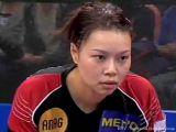 Wu Jiaduo wartet angespannt bei der Tischtennis EM 2009 in Stuttgart