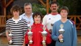 Kreisranglistensieger 2007 - von links nach rechts: Philipp Müller, Hilmar Treiber, Christoph Weinhold, Andreas Müller, Thomas Landgraf