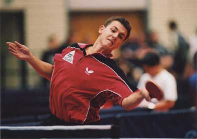 Timo Boll bei den German Open 2001 in Bayreuth