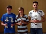 Kreisranglistensieger 2008 - von links nach rechts: Thomas Landgraf, Dominik Hau und Andreas Kawan