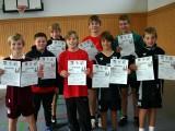 Die Sieger der Jungen bei den Kreismeisterschaften der Schüler A und Schüler B in der Saison 2008/2009 in Ebern.