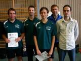 Die Sieger der Klasse Herren D bei den Kreismeisterschaften der Erwachsenen in der Saison 2008/2009 in Knetzgau.