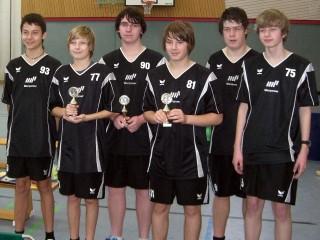 Die Endspielteilnehmer der Pokalendrunde der Jungen in der Saison 2008/2009 in Haßfurt.