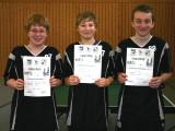 Die Sieger der Jungen beim 1. Kreisranglistenturnier der Schüler A in der Saison 2008/2009 in Ebern.
