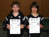 Die Sieger der Jungen beim 1. Kreisranglistenturnier der Schüler B in der Saison 2008/2009 in Ebern.