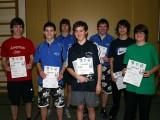 Die Sieger der Jugend beim 2. Kreisranglistenturnier der Jugend in der Saison 2008/2009 in Bundorf.