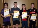 Die Sieger der Minimeisterschaften der Jungen Altersklasse 1996/1997 in der Saison 2008/2009 in Bundorf.