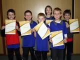 Die Sieger der Minimeisterschaften der Jungen Altersklasse 2000 und jünger in der Saison 2008/2009 in Bundorf.