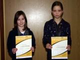 Die Sieger der Minimeisterschaften der Mädchen Altersklasse 1998/1999 in der Saison 2008/2009 in Bundorf.