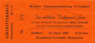 60 Jahre Ttischtennisabteilung TV Hassfurt
