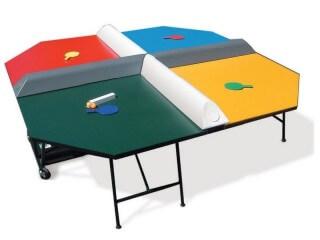 Quadratische Tischtennisplatte für 4 Spieler