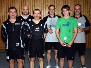 Die Endspielteilnehmer der Pokalendrunde der Herren in der Saison 2009/2010 in Ebern.