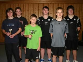 Die Endspielteilnehmer der Pokalendrunde der Jungen in der Saison 2009/2010 in Ebern.