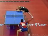 Christian Süß im Spiel gegen Frankreich bei der Tischtennis EM 2009 in Stuttgart
