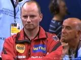 Herren-Bundestrainer Richard Prause coacht bei der Tischtennis EM 2009 in Stuttgart