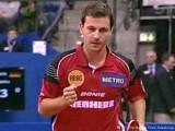 Timo Boll feuert an bei der Tischtennis EM 2009 in Stuttgart