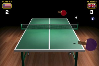 Handygame / Handyspiel – World Cup Ping Pong Lite für iPhone oder iPod touch