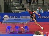Zoltan Fejer-Konnerth akrobatisch bei der Tischtennis EM 2009 in Stuttgart