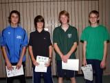 Die Sieger der Jungen bei den Kreismeisterschaften der Jugend in der Saison 2009/2010 in Knetzgau.