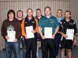 Die Sieger der Klasse Herren A/B bei den Kreismeisterschaften der Erwachsenen in der Saison 2009/2010 in Knetzgau.