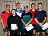 Die Sieger der Klasse Herren C bei den Kreismeisterschaften der Erwachsenen in der Saison 2009/2010 in Knetzgau.