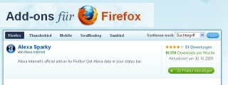 Firefox Add-on Alexa Sparky