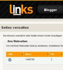 Google Pagerank und Alexa Page Rank bei InLinks.de