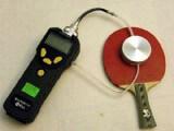 MiniRAE Lite - Messung am Tischtennisschläger - Foto von ittf.com