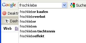 Frischkleber Google-Suche