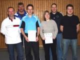 Die Sieger der Klasse Herren C beim 1. Kreisranglistenturnier der Erwachsenen in der Saison 2009/2010 in Ebern.