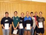Die Sieger der Klasse Herren D beim 1. Kreisranglistenturnier der Erwachsenen in der Saison 2008/2009 in Ebern.