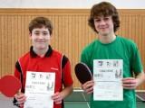 Die Sieger der Jungen beim 1. Kreisranglistenturnier der Jugend in der Saison 2009/2010 in Ebern.