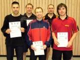 Die Sieger der Klasse Herren A/B beim 2. Kreisranglistenturnier der Erwachsenen in der Saison 2009/2010 in Knetzgau.