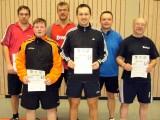 Die Sieger der Klasse Herren C beim 2. Kreisranglistenturnier der Erwachsenen in der Saison 2009/2010 in Knetzgau.