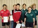 Die Sieger der Klasse Herren D beim 2. Kreisranglistenturnier der Erwachsenen in der Saison 2009/2010 in Knetzgau.