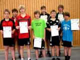 Die Sieger der Jugend beim 2. Kreisranglistenturnier der Jugend in der Saison 2009/2010 in Ebern.