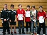Die Sieger der Schüler A beim 2. Kreisranglistenturnier der Jugend in der Saison 2009/2010 in Haßfurt.