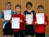 Die Sieger der Jugend beim 2. Kreisranglistenturnier der Schüler B in der Saison 2009/2010 in Ebern.