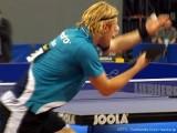 Christian Süß beim Aufschlag bei der Tischtennis deutsche Meisterschaft 2010