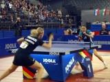 Kristin Silbereisen und Wu Jiaduo im Halbfinale der Tischtennis deutsche Meisterschaft 2010