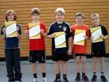 Die Sieger der Minimeisterschaften der Jungen Altersklasse 1999/2000 in der Saison 2009/2010 in Haßfurt.