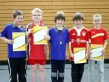 Die Sieger der Minimeisterschaften der Jungen Altersklasse 2001 und jünger in der Saison 2009/2010 in Haßfurt.