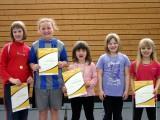 Die Sieger der Minimeisterschaften der Mädchen in der Saison 2009/2010 in Haßfurt.