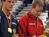 Dimitrij Ovtcharov und Patrick Baum bei der Siegerehrung Tischtennis deutsche Meisterschaft 2010