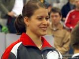 Petrissa Solja bei der Siegerehrung Tischtennis deutsche Meisterschaft 2010