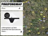 PingPong-Map - Landkarte mit Tischtennistischen