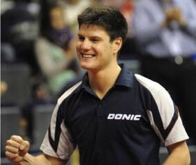 Dimitrij Ovtcharov nach einem Sieg
